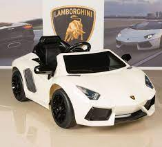 Ride On Car Kids Lamborghini Power Wheels Rc Remote White Aventador 12v Battery Battery Powered Car Car Rc Remote