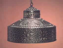 punched tin lighting. i colonial primitive tin shade sh102 punched lighting