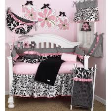 cotton tale designs girly pink fl 4 piece crib bedding set