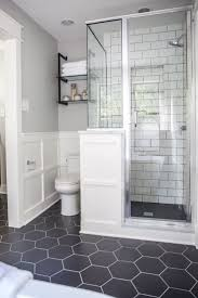 Bathroom Hair Trend Stunning Chair Rail Tile With Tile Gurus Chair Rail In Middle With Subway To Ceiling