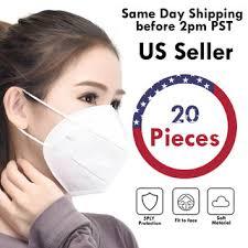 <b>20 PCS KN95</b> 5Layers Breathable Disposable <b>Respirator</b> Face ...