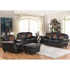 leather living room furniture. Ellis 4-piece Top Grain Leather Living Room Set Furniture