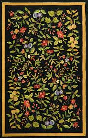 colors really pop when put against a black background i think the key to using this rug is to make it a focal point and juxtapose it with simple