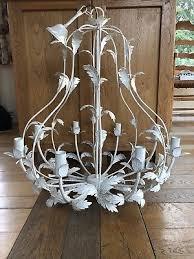bhs laura ashley lavenham brushed ivory cream chandelier leaf light ceiling