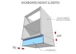 standard kickboard height and depth