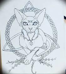 эскиз тату сфинкс 20082019 045 Sphinx Tattoo Sketch Tatufoto