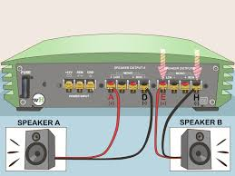 how to bridge an amplifier 7 steps pictures wikihow
