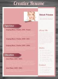 Pretty Resume Templates Simple Stunning Resume Templates 48 Stunning Creative Resume Templates