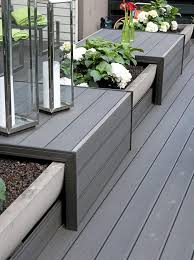 garden bench planter box. this would look cool with the outdoor sectional idea, insert planters garden bench planter box