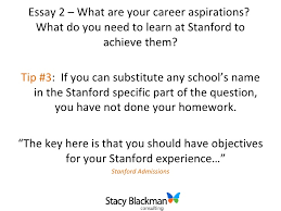 breakdown of stanford gsb admissions essays essay
