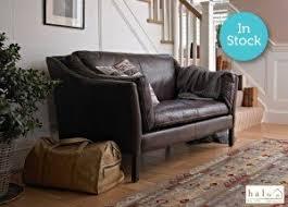 halo reggio 2 seater leather sofa