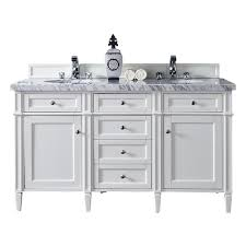 white double vanity.  White James Martin Signature Vanities Brittany 60 In W Double Vanity In Cottage  White With Marble With