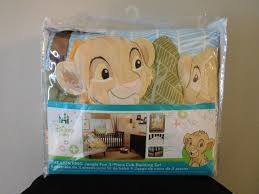 disney lion king jungle fun 3 piece baby crib bedding simba nala
