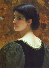 Charles Edward Perugini (Italian-born British painter, 1839-1918)- A Backward Glance. You need to login or signup to add your comment to this work. - charles-edward-perugini-italian-born-british-painter-1839-1918-a-backward-glance-1352209258_b
