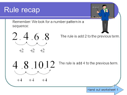 Patterns and Algebraic rules - ppt video online download