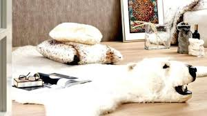 faux polar bear rug new fake fur awesome for modern room ideas decor with regard to