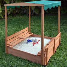 kids sandbox with cover cedar sandbox with two bench seats canopy ojcommerce