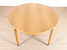 mid century modern round dining table in oak by erik riisager hansen 4