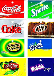 Vending Machine Labels Magnificent Soda Labels 48 Medium Oz Can Vending Machine Calories Flavor