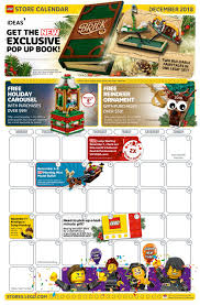 Lego Store December 2018 Calendar In The Us Now Up