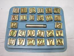 leather craft alphabet number stamp