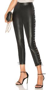 cori lace up faux leather pant