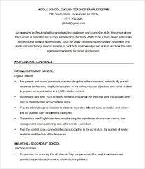English Teacher Resume Template Professional Resume Templates