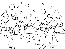 Winter Coloring Pages Free Winter Coloring