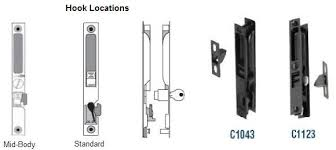 larger flush handle sets such as c1030 and ar44300 operate mortise locks within the door stile be sure to pick replacement mortise locks having a 22 1 2