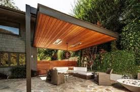 pergola design. modern wood pergola built to one of the houseu0027s walls with a living room design