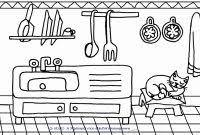 Disegni Cucina Y7du Disegni Facili Da Colorare Per Bambini Piccoli