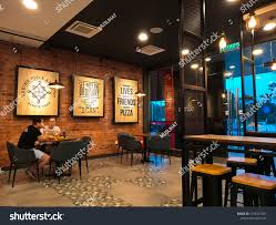 Pizza Shop Interior Design Bertam Pulau Pinang Malaysia January 27th Stock Photo Edit