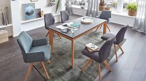 Interliving Esszimmer Serie 5102 Auszugtisch Granitfarbene Tischplatte Wildeichengestell Ca 160 260 X 90 Cm