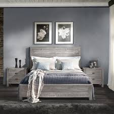 gray wood bed frame. Simple Gray Montauk Full Size Solid Wood Bed  Rustic Grey Grain Furniture 1 With Gray Frame P