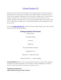 15 College Student Curriculum Vitae Sample Example College Resume