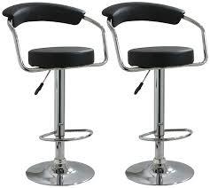 hydraulic bar stools. Set-of-2-Adjustable-Bar-Stools-Leather-Hydraulic- Hydraulic Bar Stools P