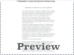 essay about sport participation in sport and physical activity  essay about sport participation in sport and physical activity essay we have learned more about how