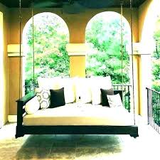 outdoor hanging daybed australia day bed porch beds swing with pillows ha