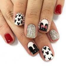 Disney nails. Disneyland ready. Minnie Mouse. Mickey Mouse. #PreciousPhan |  Disney nails, Mickey nails, Disney acrylic nails
