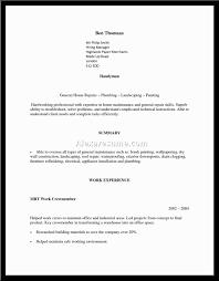Handyman Resume Sample Oloschurchtp Com