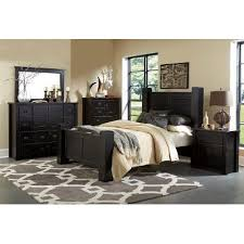 Black Piece Queen Bedroom Set Trestlewood Rc Willey