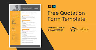 Free Quotation Form Template Psd Ai Vector Brandpacks