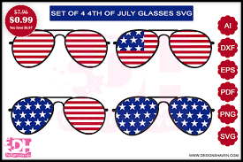 Download the glasses cut file and get three styles of glasses in dxf, svg and png format. 4th July Glasses Svg Eps Png Dxf Pdf Graphic By Designshavenllc Creative Fabrica Svg Eps Dxf