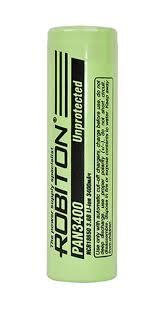 <b>аккумулятор Robiton PAN3400 18650</b> 3400 mAh, без защиты по ...