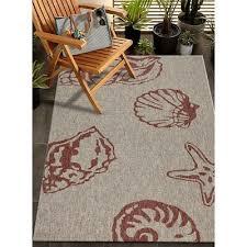 5x7 area rug tropical coastal beach sea s starfish indoor outdoor nautical