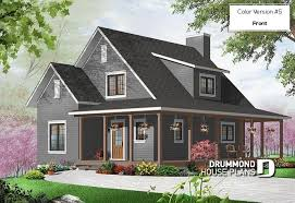 drummond house plans. Exellent Plans Color Version 5  Front Beautiful Farmhouse Cottage House Plan With  Wraparound Porch Open Floor To Drummond House Plans O