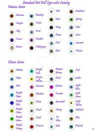 Anime Eye Color Meaning Chart Eye Color Chart
