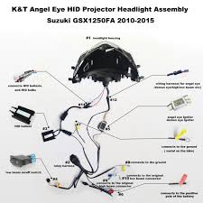 suzuki gsx r1000 gsxr1000 angel eye hid projector custom headlight 06 Gsxr 1000 Wiring Diagram suzuki gsx r1000 hid led projector headlight assembly 2005 2006 06 gsxr 1000 wiring diagram
