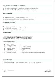 Format For Resumes Impressive Resume Sample Format Download Putasgae