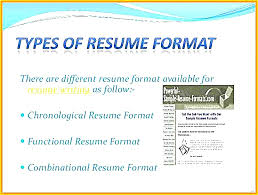 Different Types Resumes Resume Formats Elegant Writing Examples